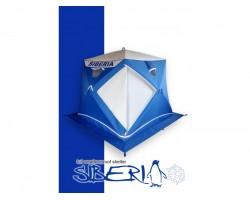 Палатка зимняя куб Пингвин Сиберия Призма Премиум 215х215 цвет бело синий