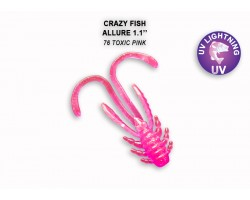 "Силиконовая приманка Crazy Fish ALLURE 1,1""  46-27-76-6"