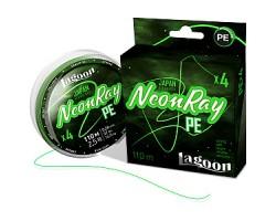 Шнур Lagoon NeonRay 110m,  #0,4 fluo-green 0,104мм 5,9кг
