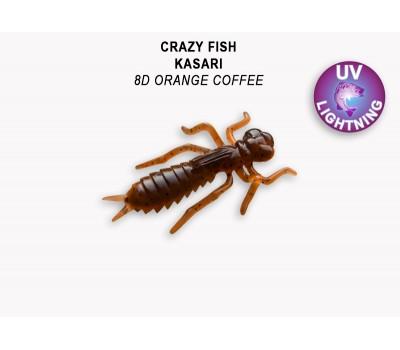 """Силиконовая приманка Crazy Fish KASARI 1,6"""" 51-40-8d-7-F"""
