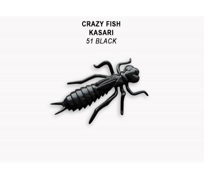 """Силиконовая приманка Crazy Fish KASARI 1,6"""" 51-40-51-7-F"""