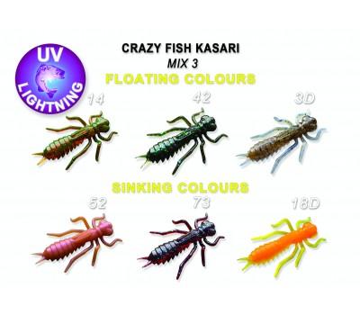 """Силиконовая приманка Crazy Fish KASARI 1,6"""" 51-40-M3-7-FS"""