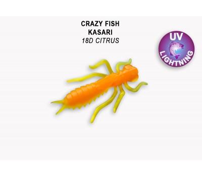 """Силиконовая приманка Crazy Fish KASARI 1,6"""" 51-40-18d-7"""