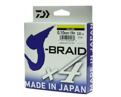 Леска плетеная DAIWA J-Braid X4 0,07мм 135 желтая