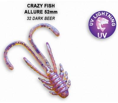 """Силиконовая приманка Crazy Fish ALLURE 2"""" 47-52-32-6"""