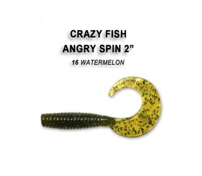 """Силиконовая приманка Crazy Fish ANGRY SPIN 2"""" 21-45-16-6"""