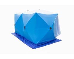 Палатка рыбака зимняя КУБ-2 ДУБЛЬ трехслойная дышащая Стэк