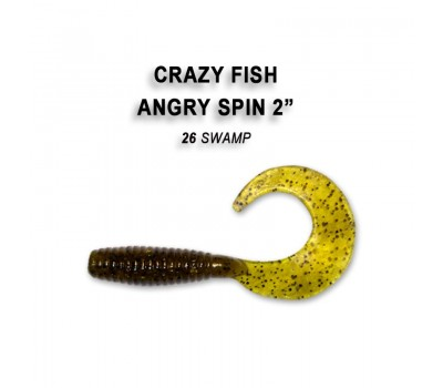 """Силиконовая приманка Crazy Fish ANGRY SPIN 2"""" 21-45-26-4"""