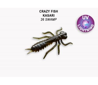 """Силиконовая приманка Crazy Fish KASARI 1,6"""" 51-40-26-7-F"""