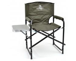 Кресло складное Кедр алюминий со столик. 56х57х47 см, высота  83 см. Труба алюминий 22х1,2 мм.