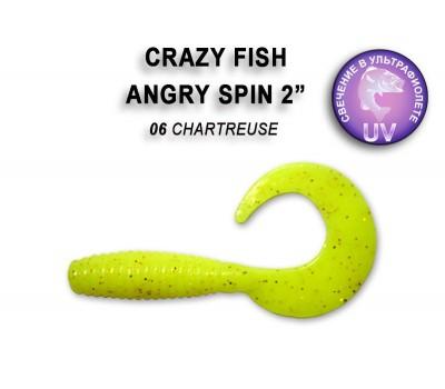 """Силиконовая приманка Crazy Fish ANGRY SPIN 2"""" 21-45-6-6"""
