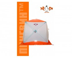 Палатка зимняя куб Пингвин Призма 1 слой Композит 185х185 цвет бело-синий