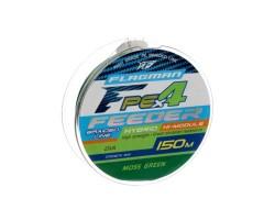 Шнур Flagman PE Hybrid F4 FEEDER 150m MossGreen 0,14mm. Max7,0kg