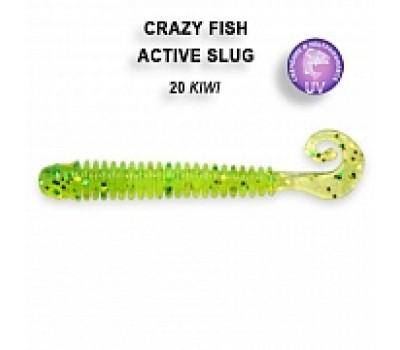 """Силиконовая приманка Crazy Fish ACTIVE SLUG 2"""" 29-50-20-6"""