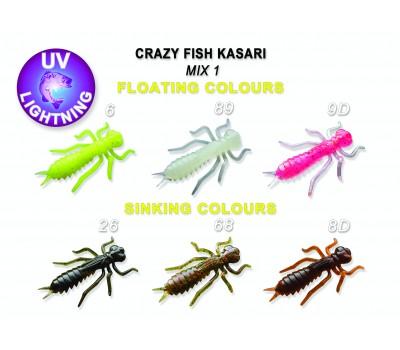 """Силиконовая приманка Crazy Fish KASARI 1,6"""" 51-40-M1-7-FS"""