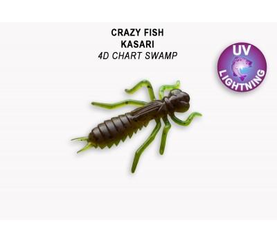 """Силиконовая приманка Crazy Fish KASARI 1,6"""" 51-40-4d-7-F"""