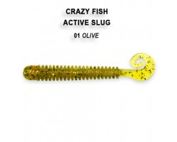 "Силиконовая приманка Crazy Fish ACTIVE SLUG 4"" 31-100-1-6"