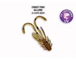 """Силиконовая приманка Crazy Fish ALLURE 1,1""""  46-27-32-6"""