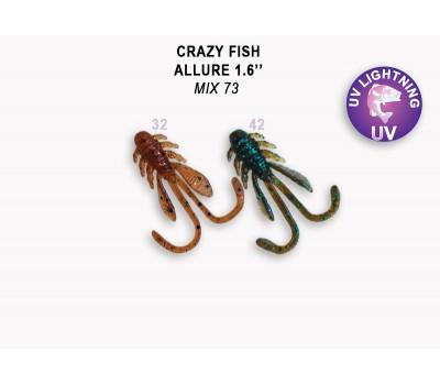 Силиконовая приманка Crazy Fish ALLURE 1,6  23-40-М73-6