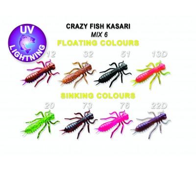 """Силиконовая приманка Crazy Fish KASARI 1"""" 52-27-M6-7-FS"""