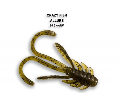 Силиконовая приманка Crazy Fish ALLURE 1,6  23-40-26-6