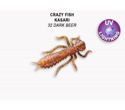 """Силиконовая приманка Crazy Fish KASARI 1"""" 52-27-32-7-F"""