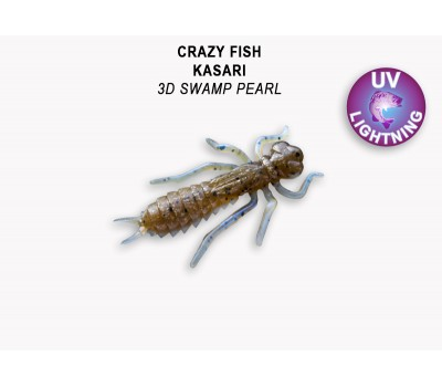 "Силиконовая приманка Crazy Fish KASARI 1"" 52-27-3d-7-F"