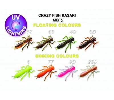 """Силиконовая приманка Crazy Fish KASARI 1"""" 52-27-M5-7-FS"""