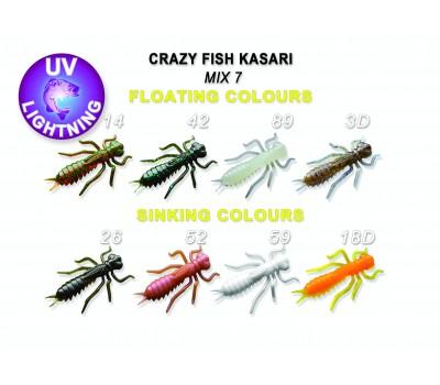 """Силиконовая приманка Crazy Fish KASARI 1"""" 52-27-M7-7-FS"""