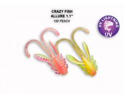 """Силиконовая приманка Crazy Fish ALLURE 1,1""""  46-27-13d-6"""