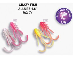 Силиконовая приманка Crazy Fish ALLURE 1,6  23-40-М74-6