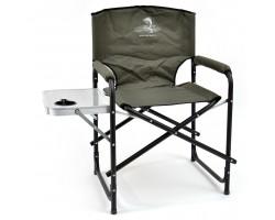 Кресло складное Кедр алюминий со столик и подстаканником 56х57х47 см, высота  83 см. Труба  22х1,2 мм.