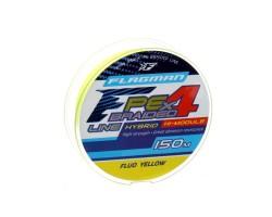 Шнур Flagman PE Hybrid F4 150m FluoYellow 0.14mm