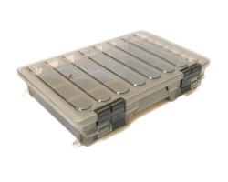 Коробка пластиковая 2-х полочная большая  D002 - 360*220*70мм