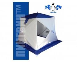 Палатка зимняя куб Пингвин Призма Термолайт композит 185х185 цвет бело оранжевый