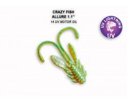"""Силиконовая приманка Crazy Fish ALLURE 1,1""""  46-27-14-6"""