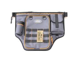 """Сумка рыболовная поясная """"СЛЕДОПЫТ"""" Fishing Belt Bag Light, 44х35х6 см, цв. серый + 1 коробка LUNO 2"""