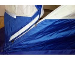 Палатка зимняя куб Пингвин Призма Премиум Термолайт 215х215 цвет бело оранжевый