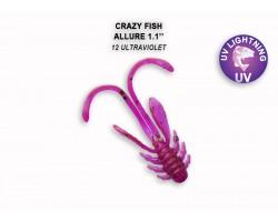 """Силиконовая приманка Crazy Fish ALLURE 1,1""""  46-27-12-6"""