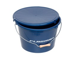 Ведро с крышкой Flagman 25л синее