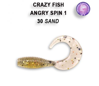 """Силиконовая приманка Crazy Fish ANGRY SPIN 1"""" 20-25-30-3"""