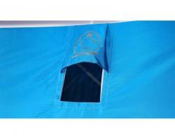 Палатка зимняя куб Пингвин Призма Премиум STRONG 225х215  2слоя цвет бело-оранжевый