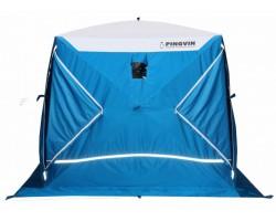 Палатка зимняя куб Пингвин Призма Премиум STRONG 2слоя 225х215 цвет бело-синий