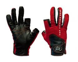 Перчатки спиннингиста Alaskan двухпалые Red/BL  M (AGWK-11M)