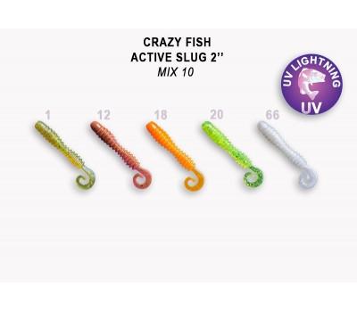 """Силиконовая приманка Crazy Fish ACTIVE SLUG 2"""" 29-50-М10-6"""