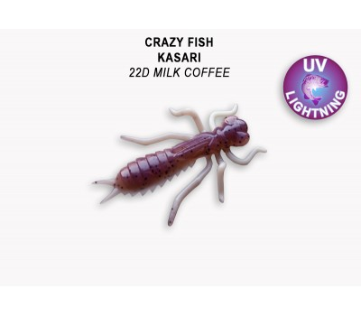 "Силиконовая приманка Crazy Fish KASARI 1"" 52-27-22d-7"