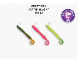 "Силиконовая приманка Crazy Fish ACTIVE SLUG 4"" 31-100-M88-6"