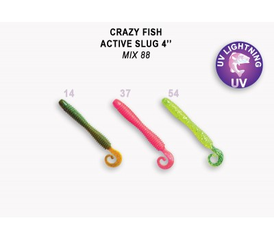 """Силиконовая приманка Crazy Fish ACTIVE SLUG 4"""" 31-100-M88-6"""